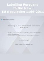 Labelling Pursuant to the New EU Regulation 1169-2011